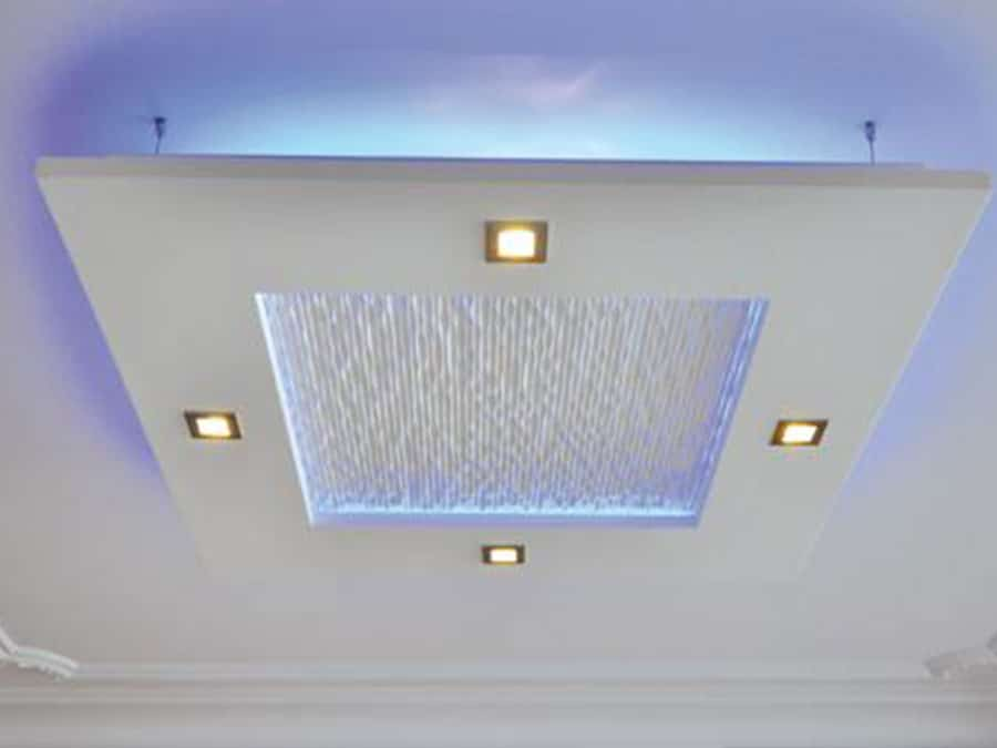 Plafond lumineux en staff taveneau palluaud for Plafond staff design